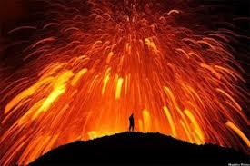 Правильное поведение при извержении вулкана