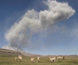 Вулкан Убинас. Новое извержение