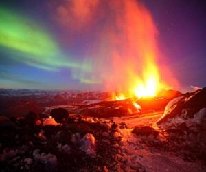 Извержение вулкана сделало из зимы лето